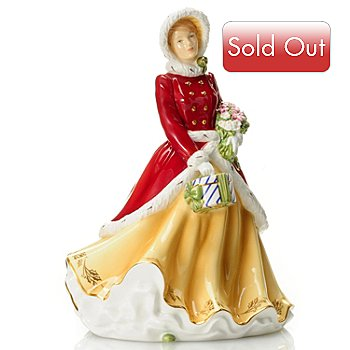 432-821 - Royal Doulton® Winters Dream 9'' 2012 Figurine Signed by Michael Doulton
