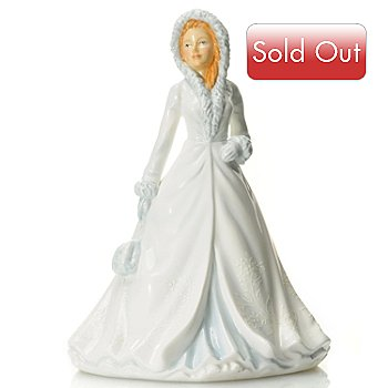 432-823 - Royal Doulton® White Christmas Bone China 7'' Figurine