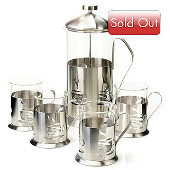 432-831 - BergHOFF® Five-Piece 32 oz. French Press Coffee Set