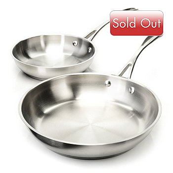 432-832 - BergHOFF® Set of Two Stainless Steel Copper-Clad Fry Pans