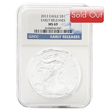 432-835 - 2012 Silver American Eagle NGC MS69 Coin