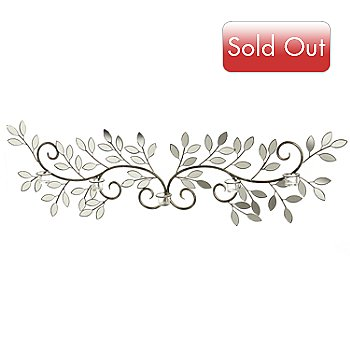 432-962 - Style at Home with Margie 55.75'' Winged Leaves Wall Décor w/ Candle Holders