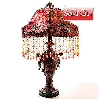 432-964 - Style at Home with Margie 30'' O'Shee Beaded Victorian Table Lamp