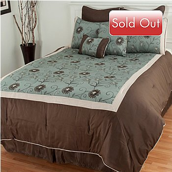 433-113 - North Shore Linens™ ''Delaney'' Microfiber Eight-Piece Comforter Set