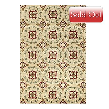 433-759 - Bashian Wreath 5' x 8' or 8' x 10' Hand Tufted 100% Wool Rug