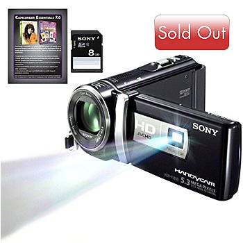 434-841 - Sony® Handycam® 25x Optical Zoom HD Camcorder w/ Built-in Projector & Accessories