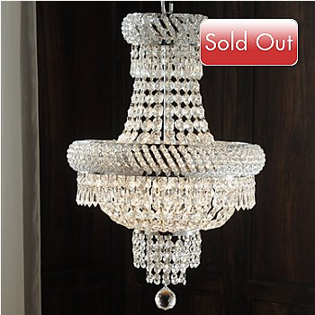 435-034 - Gallery 22'' Empire-Style Crystal Glass Chandelier