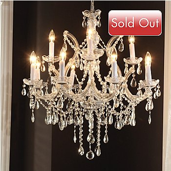 435-036 - Gallery 30'' Maria Theresa Collection Crystal Glass Chandelier