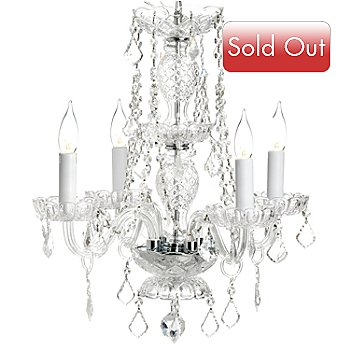 435-296 - Gallery 21'' Venetian-Style Crystal Glass Four-Arm Chandelier