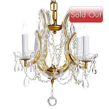 435-298 - Gallery 15'' Maria Theresa Collection Crystal Glass Gold-Tone Chandelier