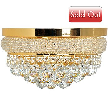 435-300 - Gallery 10'' Empire Crystal Glass Flush Mount Chandelier
