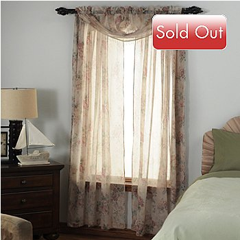 435-371 - Laura Ashley® ''Stowe'' Microfiber Three-Piece Window Set