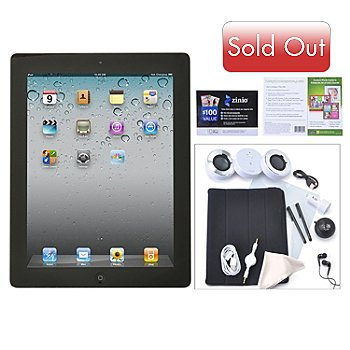 435-400 - New Apple iPad 4th Generation Retina Display Wi-Fi Only Tablet w/ Accessories
