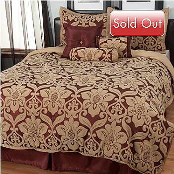 435-537 - North Shore Linens™ ''Galloway'' Seven-Piece Comforter Set