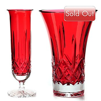 435-543 - Waterford® Crystal Lismore Crimson Vase Set