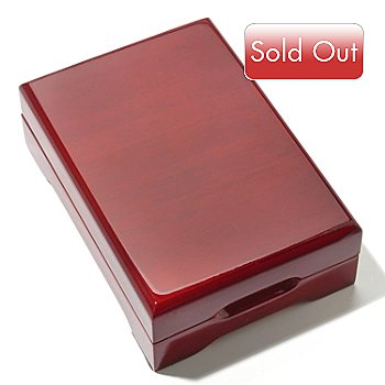 435-601 - Red Oak Display Box for Slabbed Silver or Gold Eagle Coins
