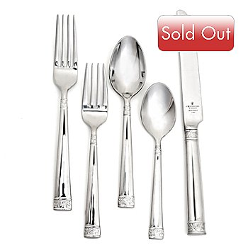436-091 - Waterford® Crystal Lismore Nouveau 20-Piece Stainless Steel Flatware Set