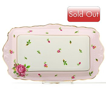 436-425 - Royal Albert® New Country Roses 11.5'' Bone China Sandwich Tray
