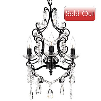 436-487 - Gallery 20'' Victoria 4-Light Wrought Iron & Crystal Glass Chandelier