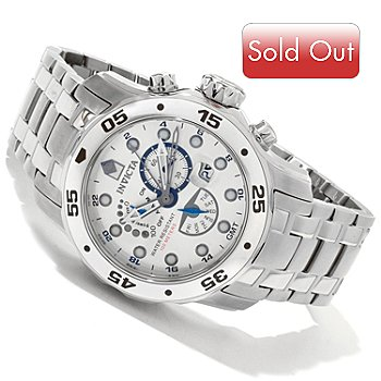 602-899 - Invicta Men's Scuba Pro Diver GMT Quartz Stainless Bracelet Watch