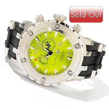 603-213 - Invicta Reserve Men's Subaqua Specialty GMT/Alarm Rubber Strap Watch