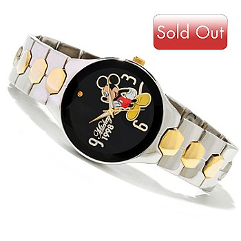 603-456 - Disney Men's Quartz Two-Tone Bracelet Watch