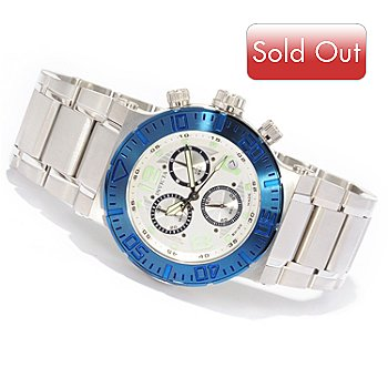603-570 - Invicta Reserve Men's Ocean Reef Quartz Chronograph Stainless Steel Watch