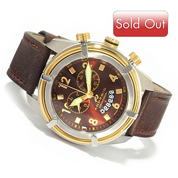 603-712 - Android Men's Naval2 Swiss Chronograph Leather Strap Watch