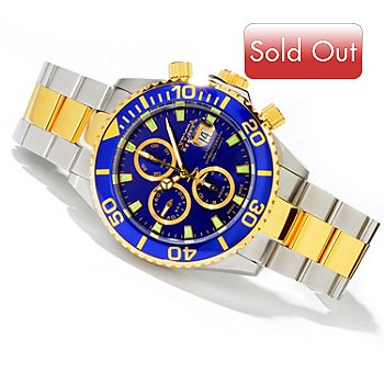 604-213 - Invicta Reserve Men's Pro Diver Swiss Valjoux Automatic Bracelet Watch