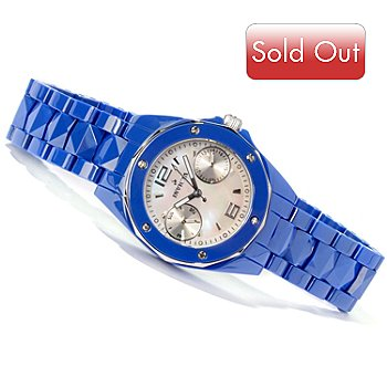 604-385 - Invicta Women's Ceramic Ocean Elite Quartz Mother of Pearl Bracelet Watch