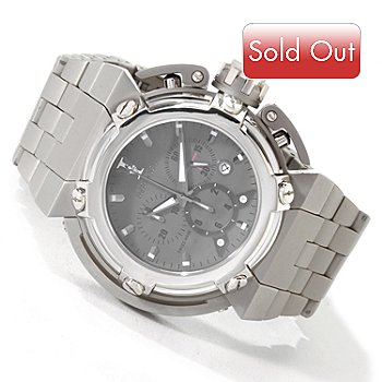 604-878 - Imperious Men's X-Wing Swiss Made Quartz Chronograph Date Window Stainless Steel Bracelet Watch