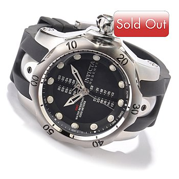 604-965 - Invicta Reserve Men's Swiss Made Quartz GMT Polyurethane Strap Watch