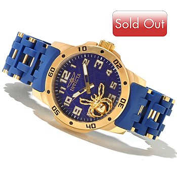 605-171 - Invicta Men's Sea Spider Quartz Polyurethane & Stainless Steel Bracelet Watch
