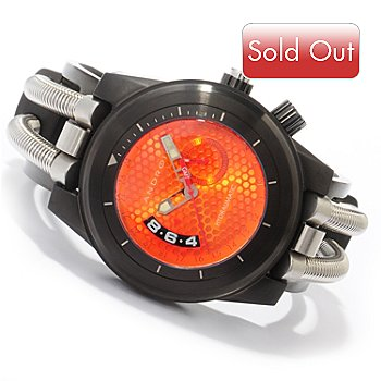 605-272 - Android Men's Hydraumatic GMT Quartz Movement Stainless Steel Cuff Watch