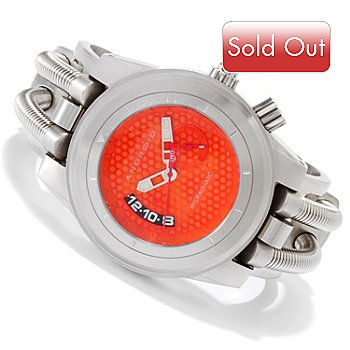 605-463 - Android Men's Hydraumatic GMT Quartz Movement Stainless Steel Cuff Watch