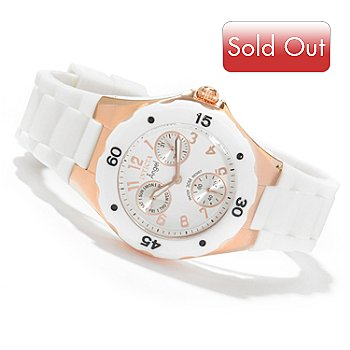 605-507 - Invicta Women's Angel Jellyfish Day and Date Silicone Strap Watch