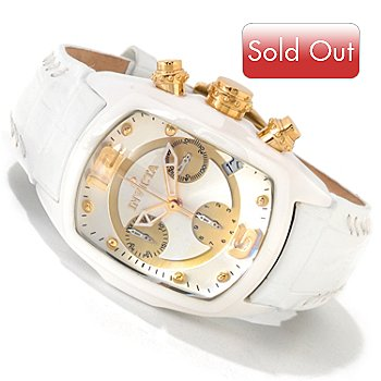 605-520 - Invicta Women's Lupah Revolution Ceramic Case Leather Strap Watch