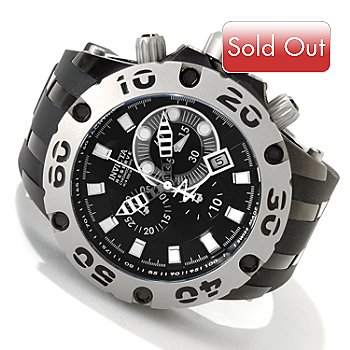 605-523 - Invicta Reserve Men's Specialty Scuba Swiss Quartz Chronograph Tachymeter Rubber Strap Watch