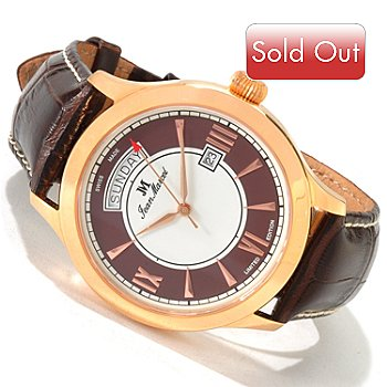 606-029 - Jean Marcel Men's Semper Limited Edition Swiss Automatic Strap Watch