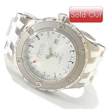 606-150 - Invicta Reserve Men's Specialty Subaqua Scuba Swiss Made Quartz GMT White Polyurethane Strap Watch