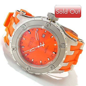 606-292 - Invicta Reserve Men's Specialty Subaqua Swiss Made Quartz GMT Polyurethane Strap Watch