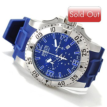 606-312 - Invicta Men's Excursion Swiss Made Quartz Chronograph Stainless Steel Case Strap Watch