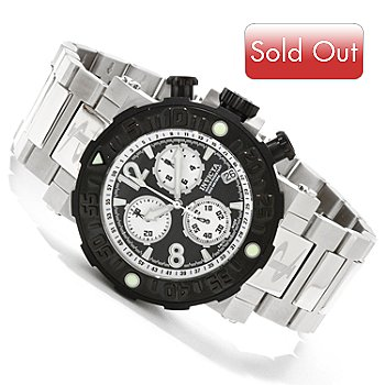 606-384 - Invicta Reserve Men's Sea Rover Swiss Chronograph Stainless Steel Bracelet Watch