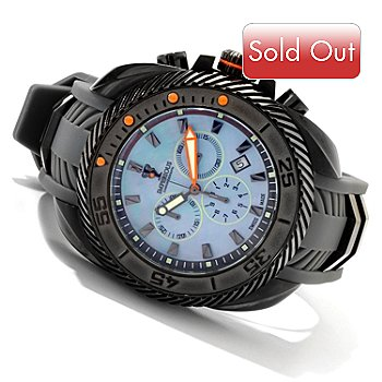 606-470 - Imperious Men's Gear Head Swiss Quartz Chronograph Mother-of-Pearl Strap Watch