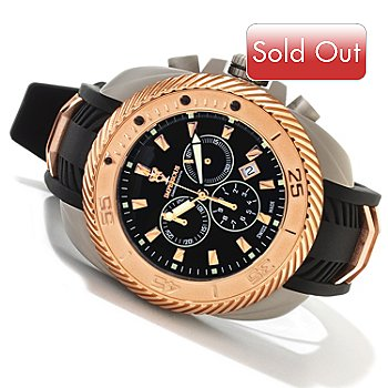 606-471 - Imperious Men's Gear Head Swiss Made Quartz Chronograph Strap Watch