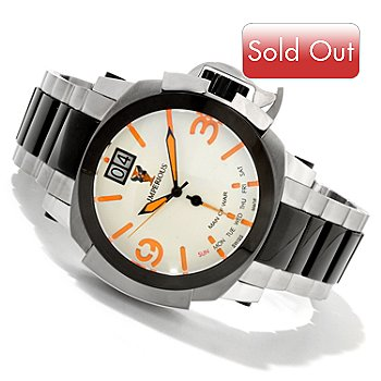 606-510 - Imperious Men's Man of War Swiss Made Quartz Stainless Steel Bracelet Watch