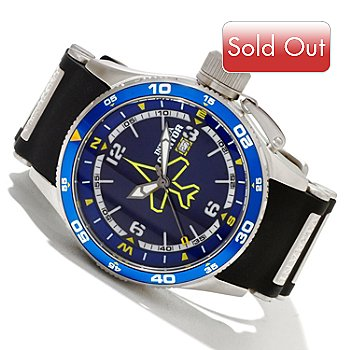 606-560 - Invicta Men's Aviator Quartz Stainless Steel Case Polyurethane Strap Watch