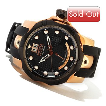 606-605 - Invicta Reserve Men's Venom Swiss Made Quartz Strap Watch w/ 3-Slot Dive Case