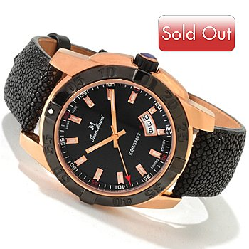 606-616 - Jean Marcel Men's Mystica Limited Edition Swiss Automatic 18K Rose Gold Plated Watch