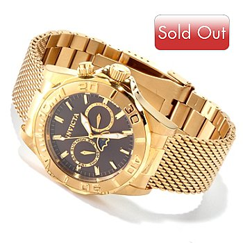 606-653 - Invicta Men's Sea Wizard Quartz Sunray Dial Stainless Steel Mesh Bracelet Watch